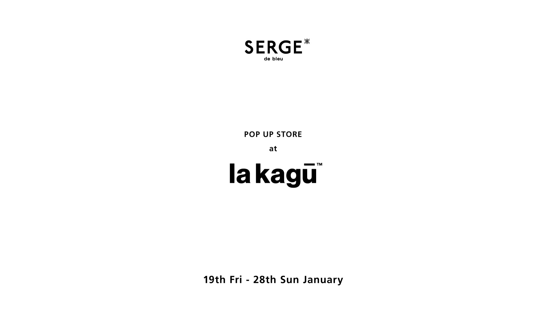 POP UP SHOP at la kagu